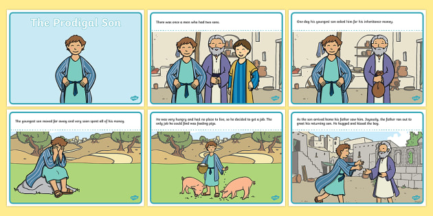 Prodigal Son Bible Story Worksheets