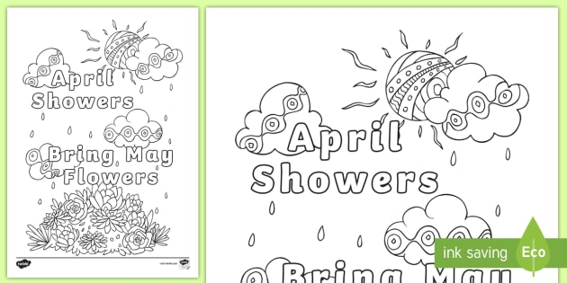 april showers bring may flowers mindfulness coloring page