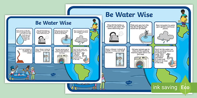 water conservation poster