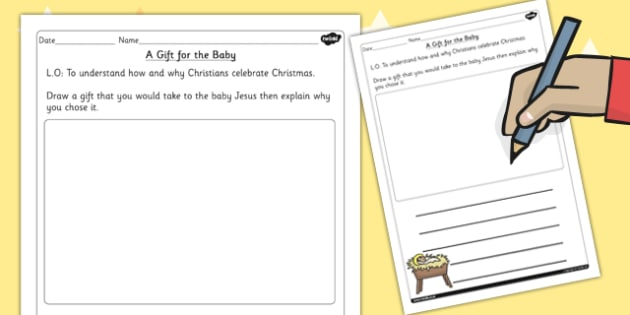 Ks1 Re Christianity A T For The Baby Worksheet
