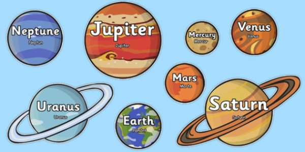 The Planet Names Words on Planets Romanian Translation