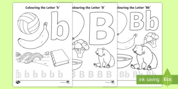letter b coloring page # 15
