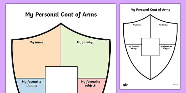 Family Coat Arms Activity