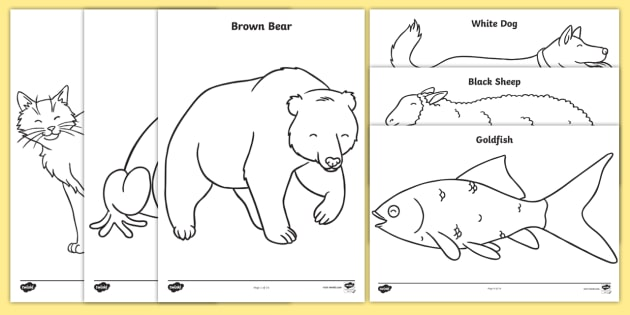free!  coloring sheets to support teaching on brown bear