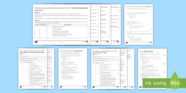 GCSE English Language Specimen Papers