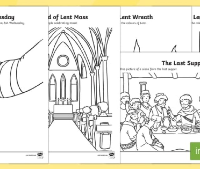 Lent Coloring Pages Teacher Made