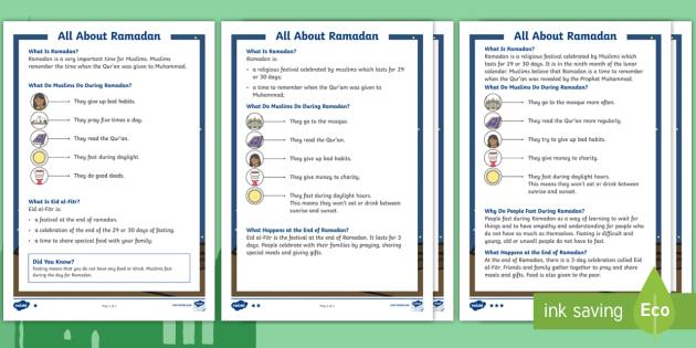 Ks1 Ramadan Differentiated Fact File
