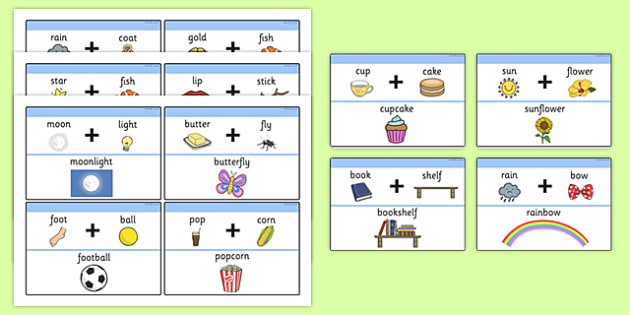 Examples Of Compound Words With Pictures Compound Words