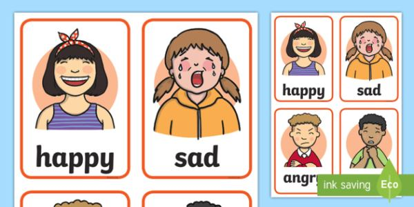 Feelings Faces Cards - Learning Resource - Twinkl