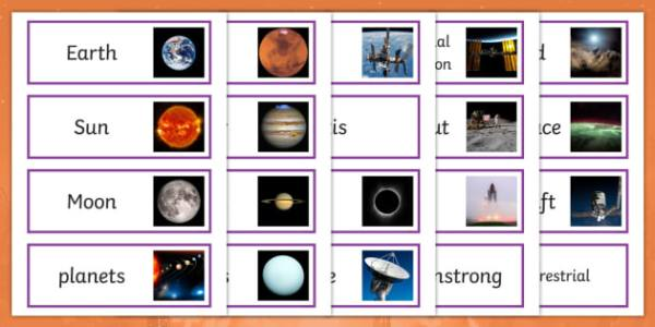 * NEW * Space and the Solar System KS2 Vocabulary Word Cards