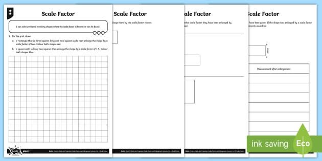 Scale Factor Differentiated Worksheet Activity Sheets