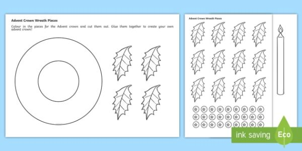 wreath template printable # 19
