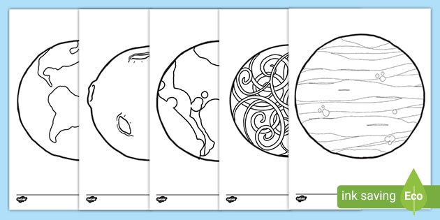 Free Planet Template Pack Colouring Pages