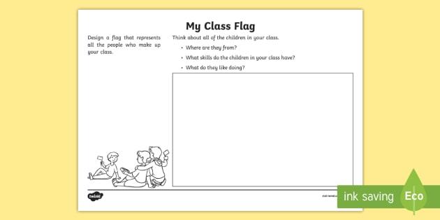My Class Flag Worksheet Worksheet Teacher Made