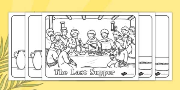 the last supper coloring page # 17