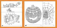 halloween themed coloring sheets