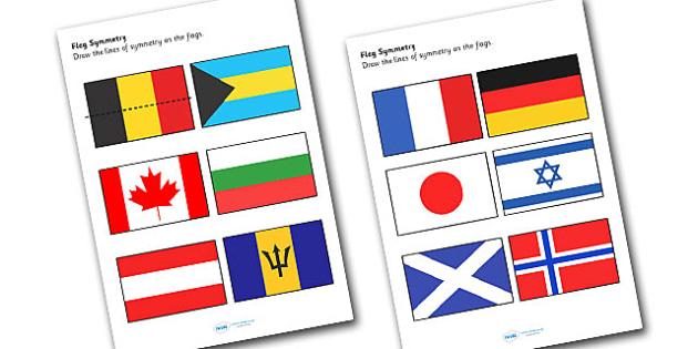Flag Symmetry Worksheets