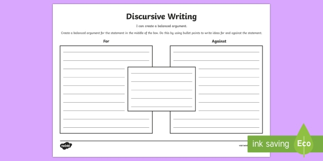 Blank Discursive Writing Template