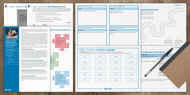 GCSE English Language: Writing About Structure Activity Pack