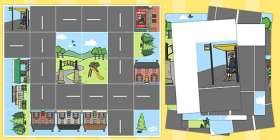 Road and Buildings Mat (Compatible with Bee-Bot)