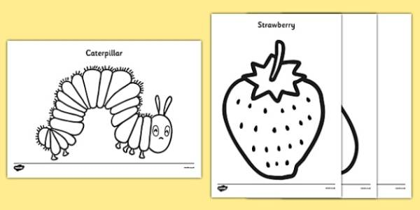 hungry caterpillar coloring pages # 7