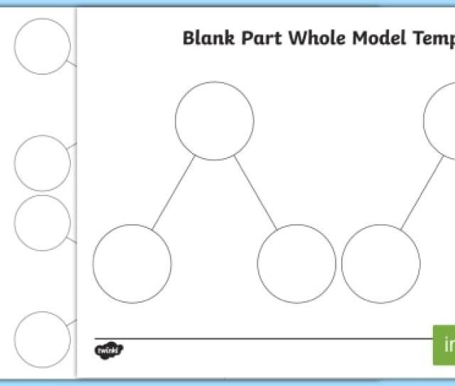 Part Whole Blank Model Template Shanghai Maths Singapore Maths Part Whole Part