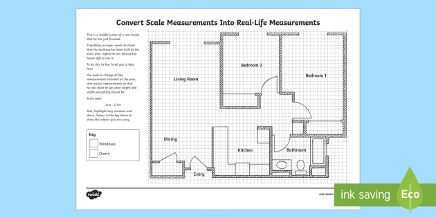 Convert Scale Measurements Into Real Life Measurements