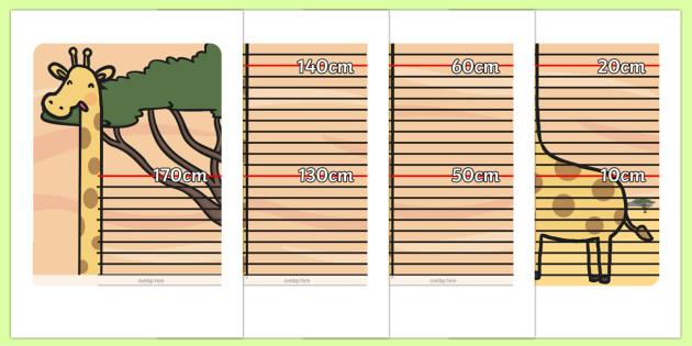Printable Free Chart Height Wall