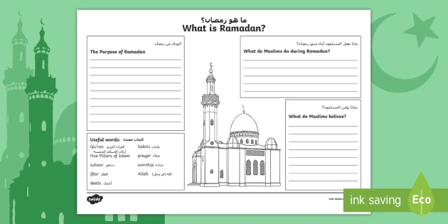 Ks2 What Is Ramadan Worksheet