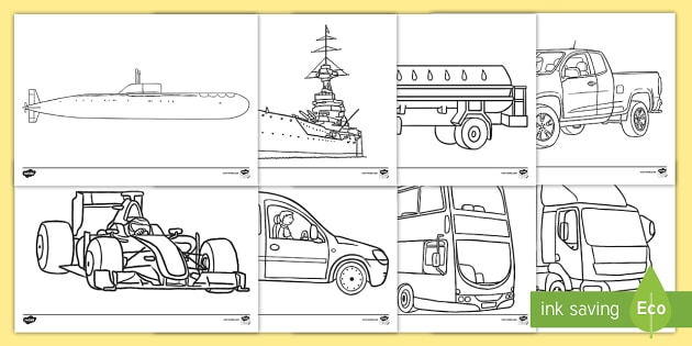 Free Transport Colouring Sheets Teacher Made
