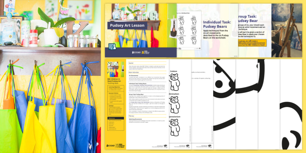 BBC Children in Need: Pudsey Art Lesson Pack