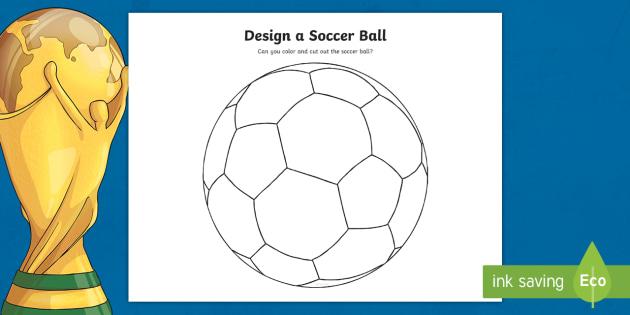 Design A Soccer Ball Coloring Sheet Teacher Made