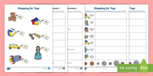 Shopping For Toys Worksheet Worksheet Teacher Made