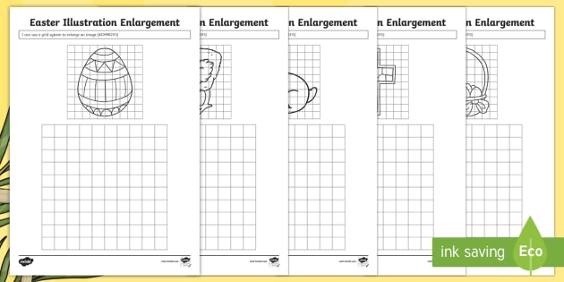 Easter Illustration Enlargement Worksheet Worksheet
