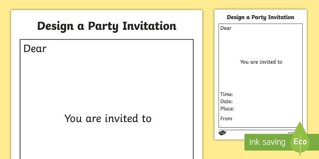 birthday invite card template