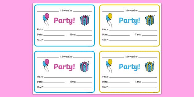 Senior Party Invitations
