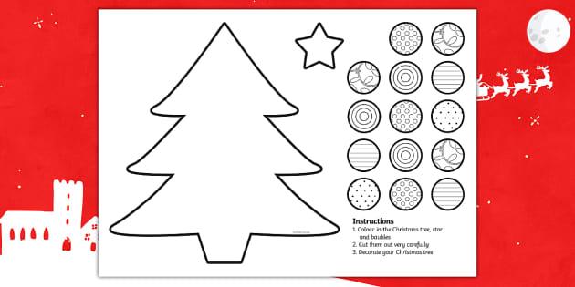 Cutting Skills Christmas Tree Activity Cutting