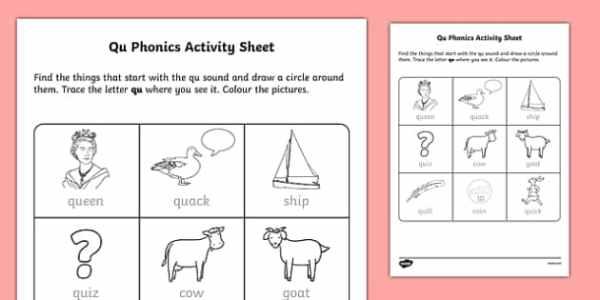 ROI 'qu' Phonics Worksheet / Worksheet-Irish, worksheet