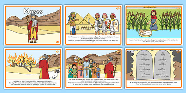 Moses Story Sequencing A4 Moses Egypt Hebrews Slaves