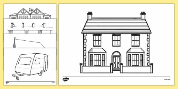 FREE! - Houses and Homes Colouring Sheets (teacher made)