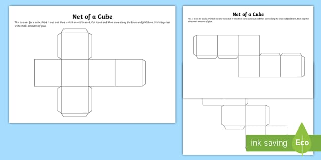 Printable Cube Net Template