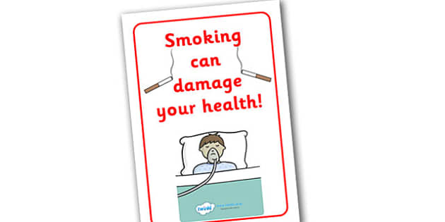 smoking damages your health display poster
