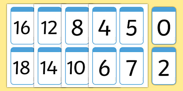 Numeracy, Digit Card, Math, Number
