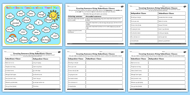 Using Subordinate Clause Lesson Teaching Pack