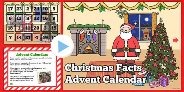 Christmas Facts Advent Calendar PowerPoint Festivities