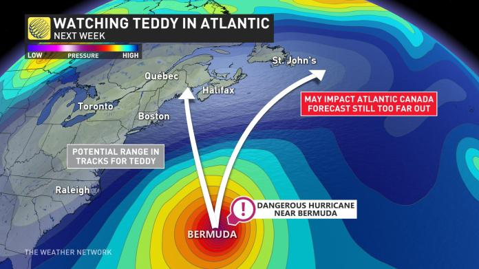 Double Tropical Systems potentially heading to Atlantic Canada.  Sep 17