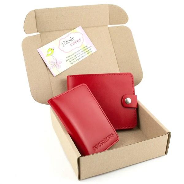 Подарочный набор №16: портмоне П1 + мини обложка на ...