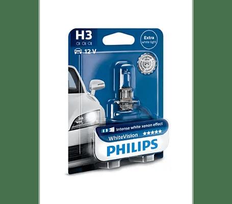 Автомобильная лампа Philips WhiteVision +60%, H3 (PK22s ...