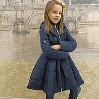 Детская одежда. Пальто -18модель( весна-осень) синяя ...
