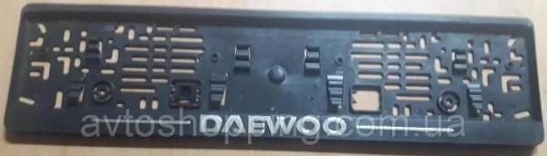 Рамка под номер с металлической надписью Daewoo (Део ...